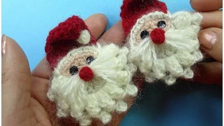 СУПЕР ПРОСТОЙ ДЕД МОРОЗ крючком вязание How to crochet Santa Claus (1)