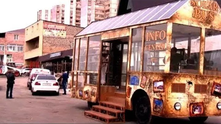 Армянин сконструировал солнечный автобус