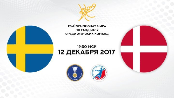 Гандбол. Швеция - Дания. 1/4 финала. Чемпионат мира 2017. Женщины