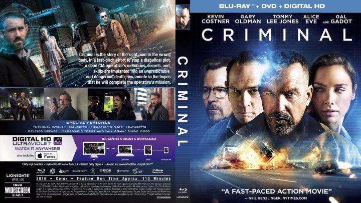 Преступник HD(2015) 1080p.Фантастика,Боевик,Триллер,Драма,Криминал