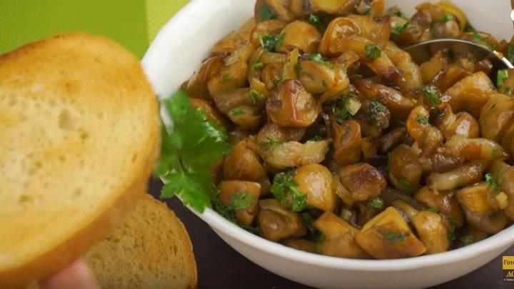 Обалденная закуска с грибами и беконом. Жареные грибы на праздничный стол