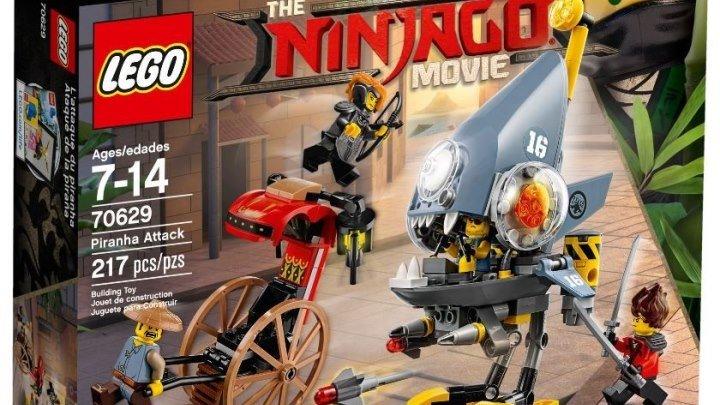 ЛЕГО НИНДЗЯГО Нападение Пираньи Обзор новинки LEGO NINJAGO Movie 2018