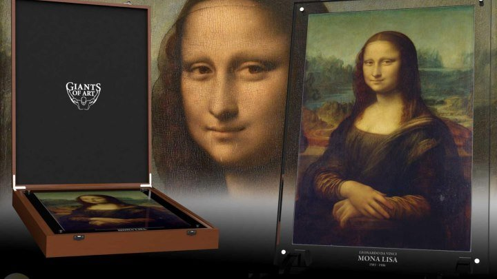 МОНЕТА МОНА ЛИЗА 1 КИЛОГРАММ СЕРЕБРА/2017 Mona Lisa Giant Art (AllCollect) silver coin