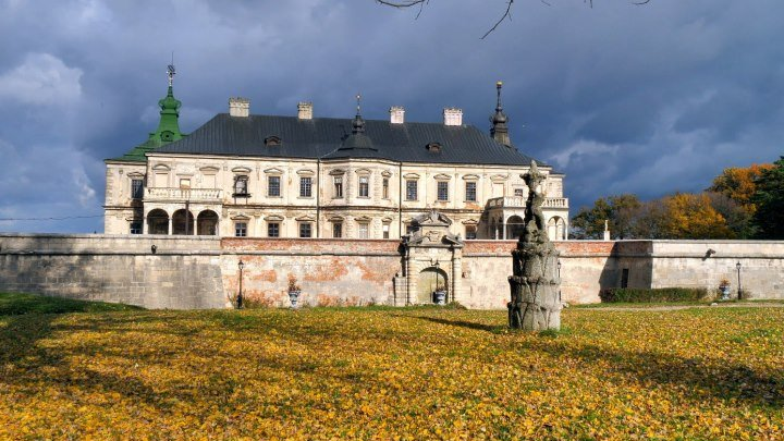 Подгорецкий дворец - осень (Podgorsky Palace - Autumn) 4К Ultra HD - Видео