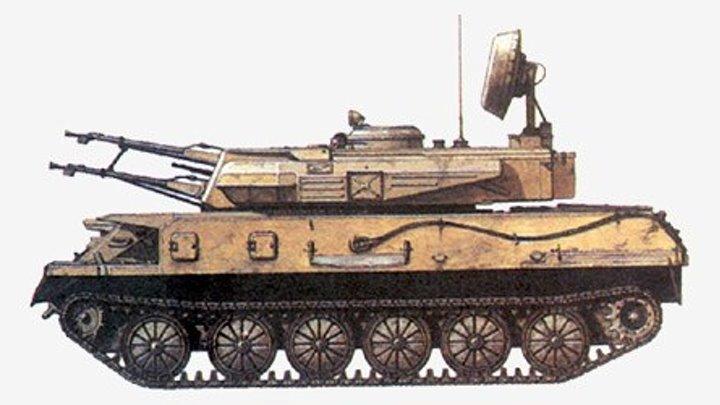 23-мм зенитная самоходная установка ЗСУ-23-4 «Шилка»
