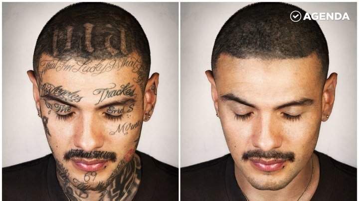 Фотограф стер все татуировки с тел бывших преступников