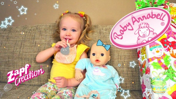 Кукла Baby Annabell. Распаковываем и играем!