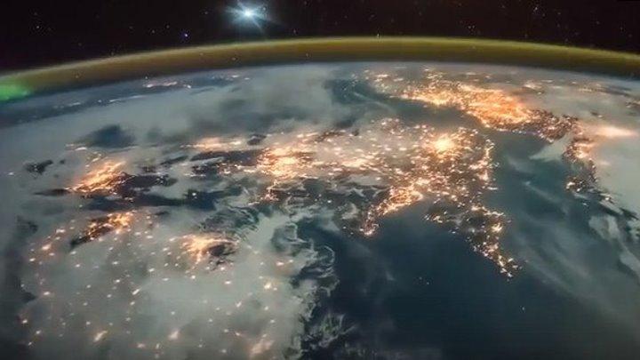 Как на Землю приходит Рассвет. Вид из космоса.