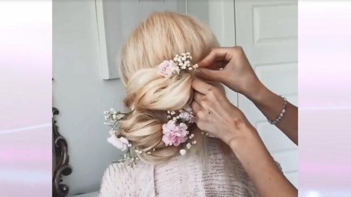 Лучшие романтические причёски... Красота...