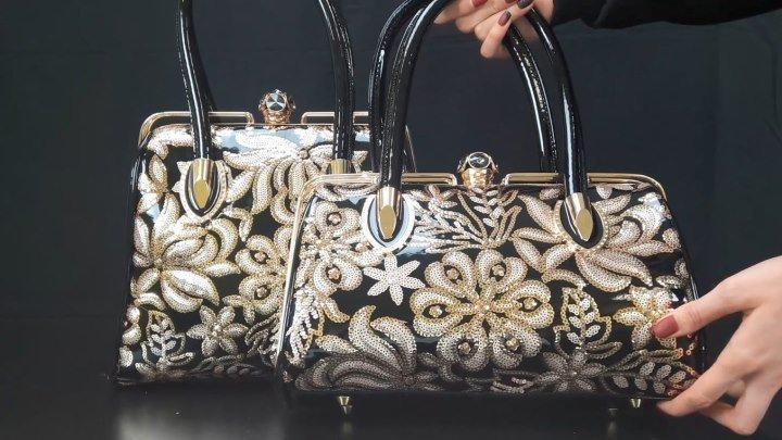Какие же они красивые сумки Болинни в отделке под золото! Смотрите обзор