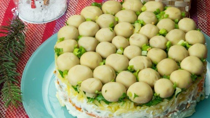 """Salată """"Poiana cu ciuperci"""" – încă o salată delicioasă demnă pentru masa de Revelion!"""