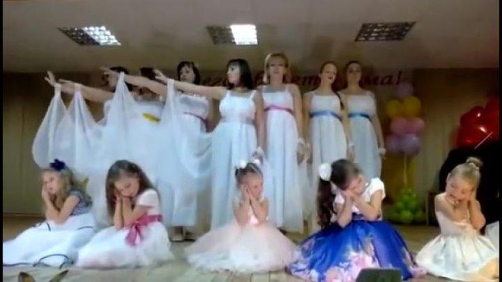 `МОЙ АНГЕЛ` - Танец мам и дочек (младшая группа) СУПЕР-КЛАСС!!!