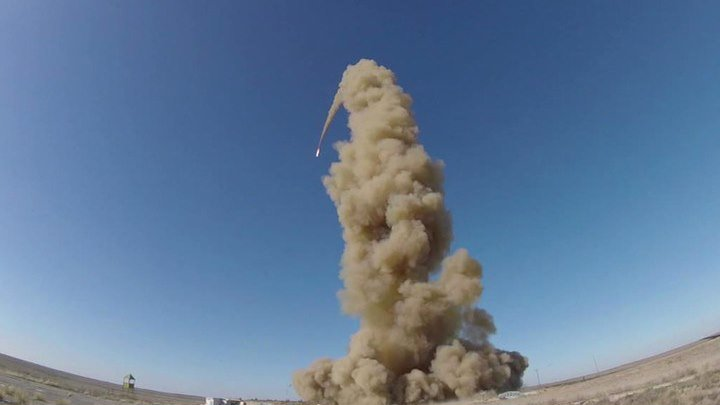 Российские военные провели испытания модернизированной противоракеты в Казахстане