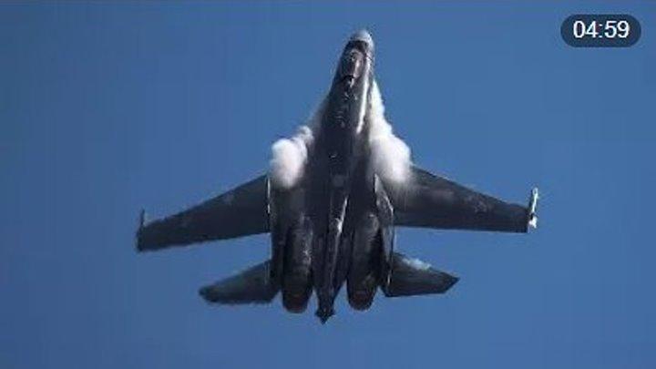 Русский балет в небе... Су-35 плюёт на все законы физики! Перевороты, петли