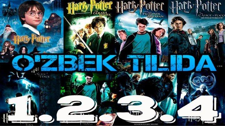 Garri Potter 1 - 2 - 3 - 4 O'zbek tilida HD