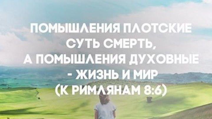 """""""...Помышление духовные - жизнь и мир"""" протоиерей Михаил Швалагин"""