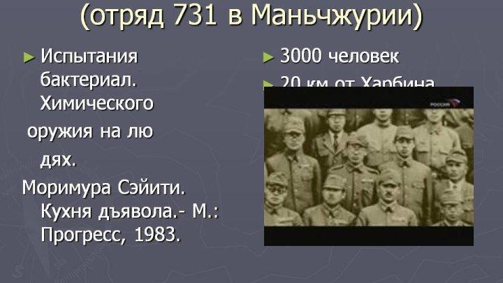 """""""Конвейер смерти – Отряд 731"""" Документальный"""