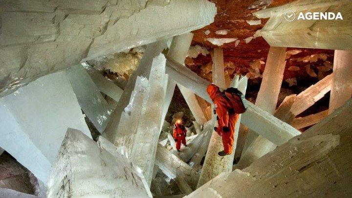 Пещера с гигантскими кристаллами