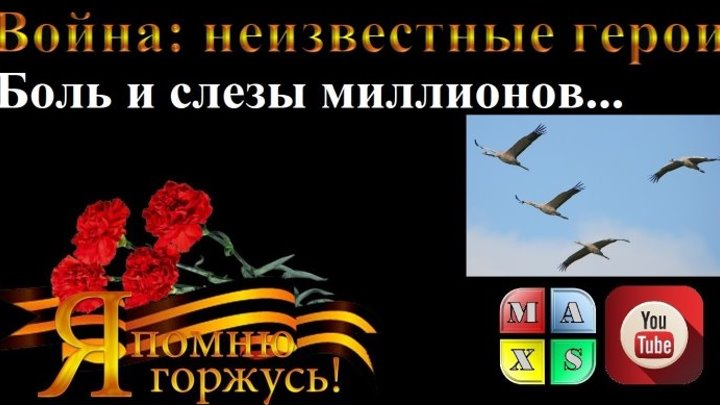 Боль и слезы миллионов… Великая Отечественная война. Фролова Мария. Помним, скорбим (Max'S)