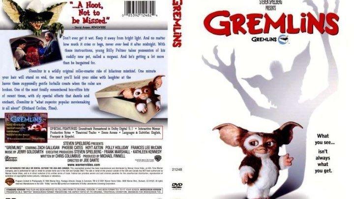 Гремлины -1 HD(1984) 1O8Op.Ужасы,Фэнтези,Комедия