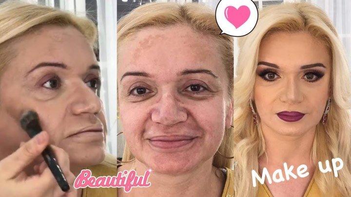 До и после. Возрастной макияж! Нереальное перевоплощение!