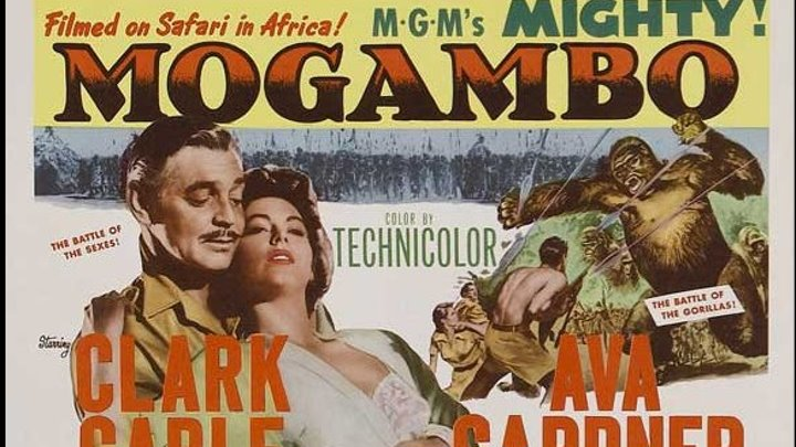 Mogambo (1953) 720p , Clark Gable, Grace Kelly, Ava Gardner, Philip Stainton, Donald Sinden, Eric Pohlmann, Laurence Naismith, Bruce Seton, Denis O'Dea, Asa Etula, Cinematography by Robert Surtees, / Freddie Young, Directed by John Ford (Eng)