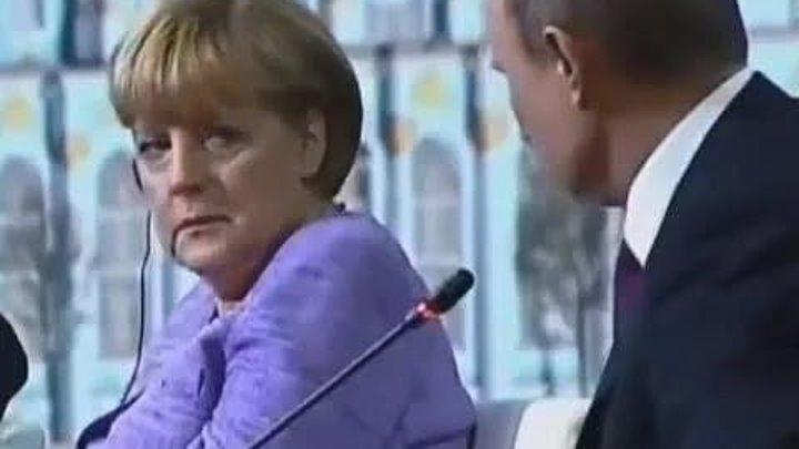 Путин рассказал Меркель анекдот про Штирлица