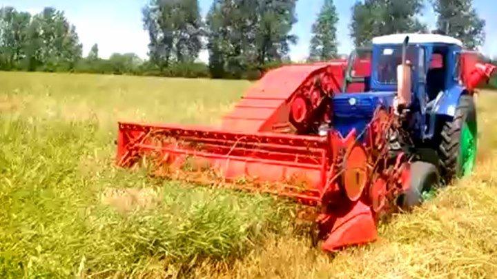 прицепной комбайн к трактору Трактор Т 40