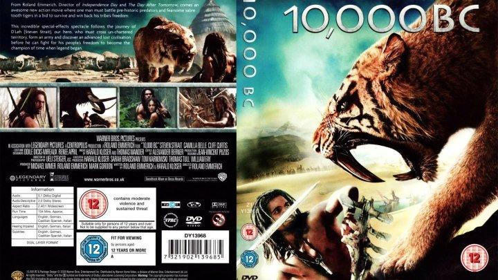 10 000 лет до н.э. HD(2008) 1O8Op.Приключения,Драма,Фэнтези