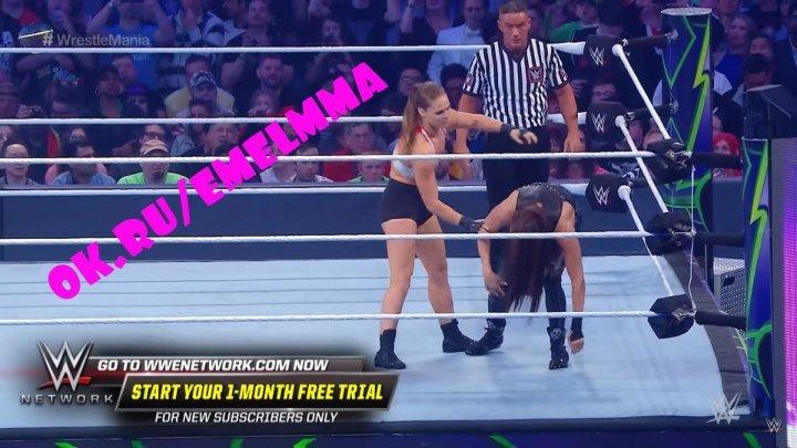 ★ Ронда Раузи не проявляет милосердия к Стефани МакМахон в своем дебюте в WWE: WrestleMania 34 ★