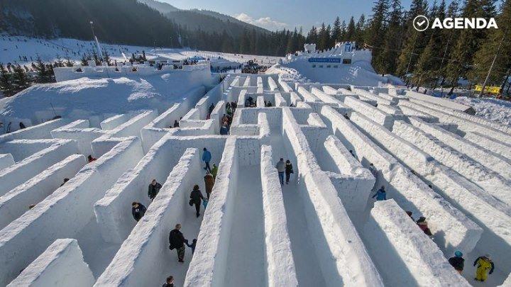 Крупнейший в мире снежный лабиринт