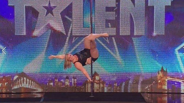 Pole dance от девушки в теле