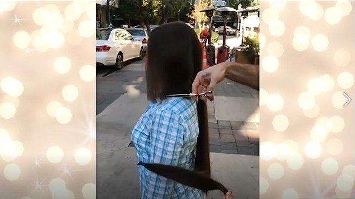 Экстремальное преображение - стрижка длинных волос