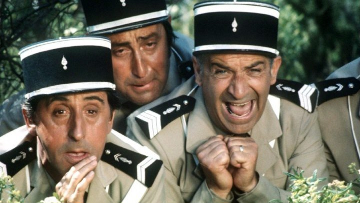 Луи де Фюнес в комедии Жандарм на отдыхе