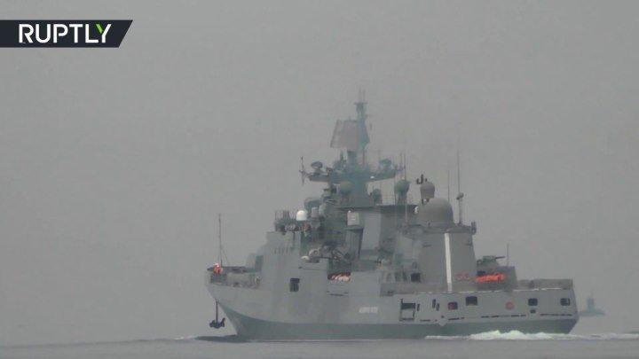 Российский фрегат «Адмирал Эссен» вышел в свой первый в 2018 году морской поход