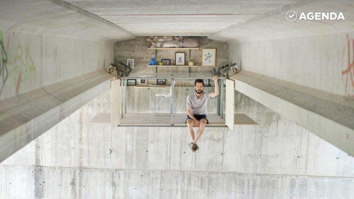 Этот секретный офис висит в воздухе...под мостом!