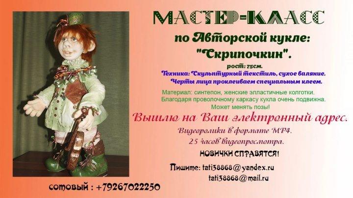 Авторская кукла: Скрипочкин.