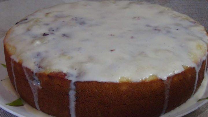 Пирог с Вишней (с любыми ягодами). Очень Пышный и Вкусный!
