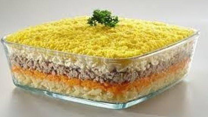"""Салат """"Мимоза"""" с сардиной в масле"""