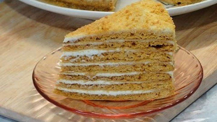 Самый нежный торт Медовик - простой рецепт