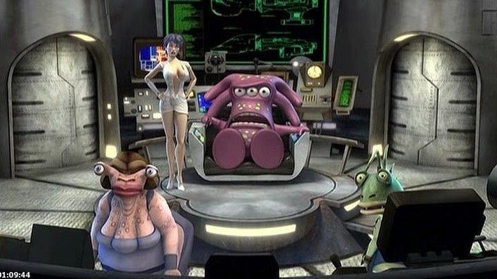 Расплющенный космос: Полный метр (2008) мультфильм, фантастика, комедия