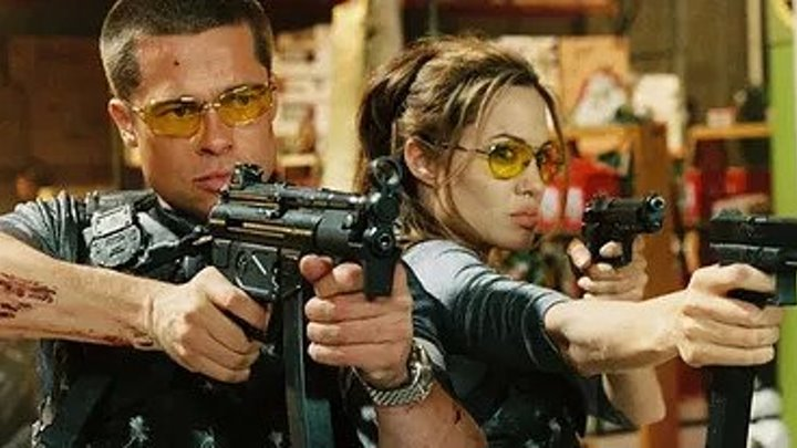 Мистер и миссис Смит HD (2005) Боевик, Мелодрама, Комедия, Криминал, Триллер