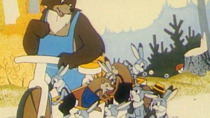 Лиса, медведь и мотоцикл с коляской Мультфильм, 1969