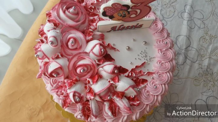 Оформление торта белково-заварным кремом.(БЗК)(как украсить торт кремом)