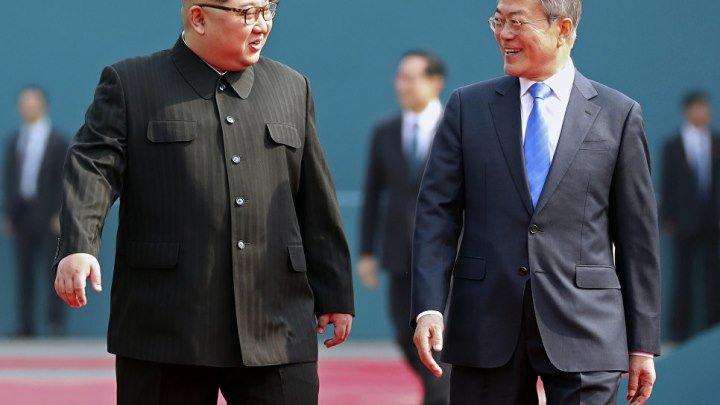 Первая встреча лидеров Северной и Южной Кореи за 68 лет.