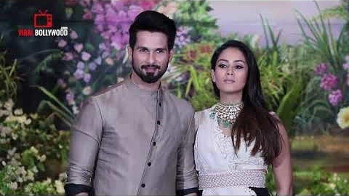 Шахид Капур и Мира Капур на свадебном приеме Сонам Капур и Ананда Ахуджа