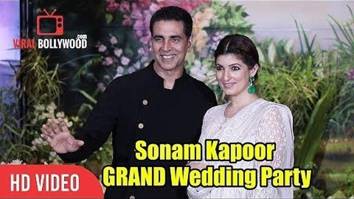 Акшай Кумар и Твинкл Кханна на свадебном приеме Сонам Капур и Ананда Ахуджа