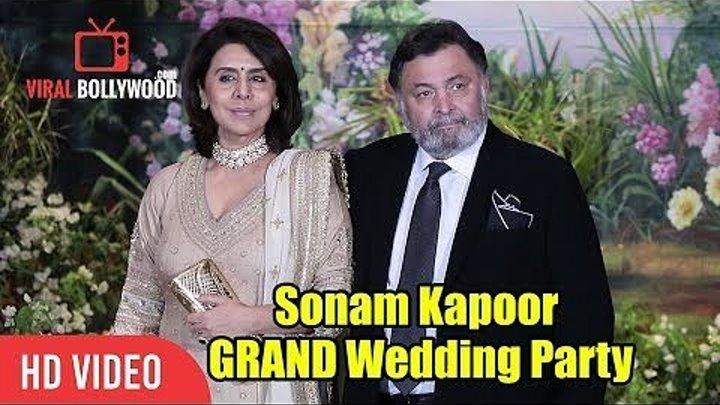Риши Капур и Ниту Сингх на свадебном приеме Сонам Капур и Ананда Ахуджа