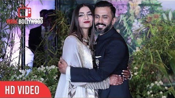 Сонам Капур и Ананд Ахуджа на свадебном приеме