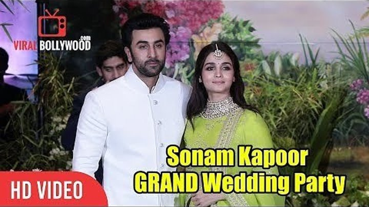 Ранбир Капур и Алия Бхатт на свадебном приеме Сонам Капур и Ананда Ахуджа